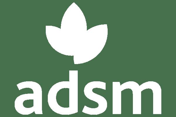 adsm white logo