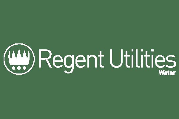 Regent utilities company logo in white