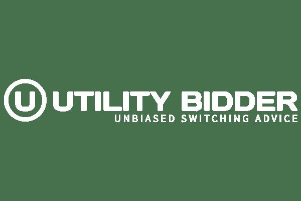Utility bidder company logo in white