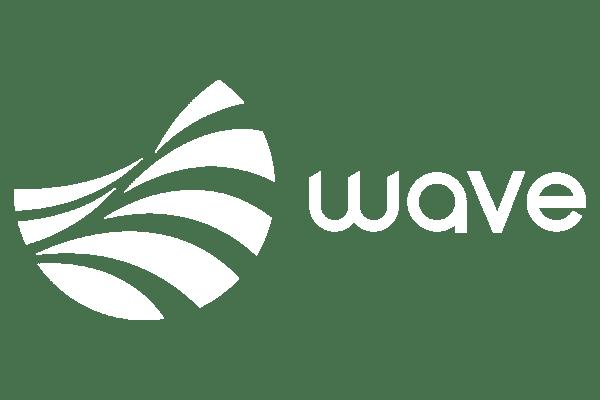 Wave logo in white